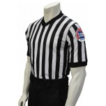 "Missouri (MSHSAA) 1"" Stripe Body Flex Men's V-Neck Referee Shirt with Side Panels"