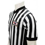 "Nebraska (NSAA) 1"" Stripe Body Flex Men's Referee Shirt with Side Panels"
