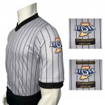Indiana (IHSAA) Grey V-Neck Wrestling Referee Shirt