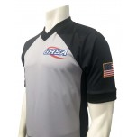 Georgia (GHSA) Men's Body Flex Grey & Black V-Neck Referee Shirt