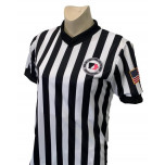 "Iowa Girls (IGHSAU) 1"" Stripe Body Flex Women's V-Neck Referee Shirt"