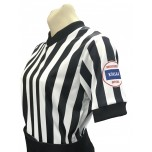 "Kansas (KSHSAA) 1"" Stripe Women's V-Neck Basketball Referee Shirt"
