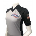 Georgia (GHSA) Women's Body Flex Grey & Black V-Neck Referee Shirt