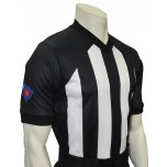 "South Carolina (SCBOA) 2 1/4"" Stripe Body Flex V-Neck Referee Shirt"