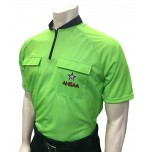 Alabama (AHSAA) Short Sleeve Soccer Referee Shirt - Fluorescent Green