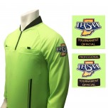 Indiana (IHSAA) Long Sleeve Soccer Referee Shirt - Florescent Green