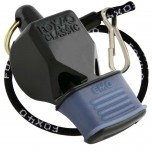"Fox 40 Classic Referee Whistle with Cushioned Mouth Guard and 9"" PTS Lanyard"