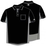 Majestic MLB Umpire Shirt - Black with Charcoal Grey