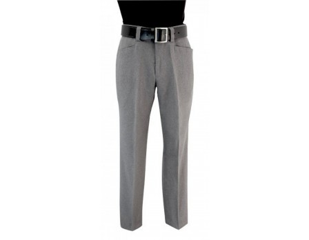 S377-HG Smitty Flat Front Heather Grey Combo Umpire Pants