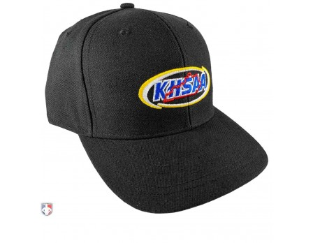 Kentucky (KHSAA) Surge Fitted Umpire Cap Black Front Angled View
