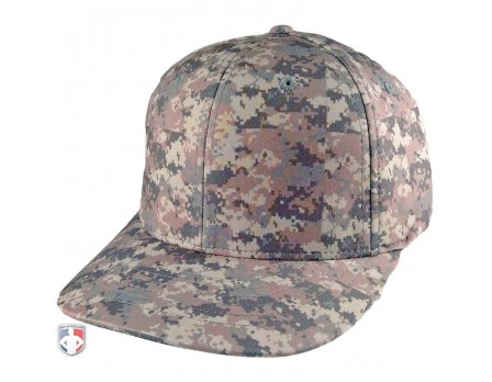 643-CAMO Richardson Camo Pulse Performance Flexfit Base Umpire Cap - 6 Stitch Front Angled View