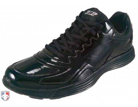 7385 3n2 Reaction VX1 Patent Leather Referee Shoes Outside Front Angled View