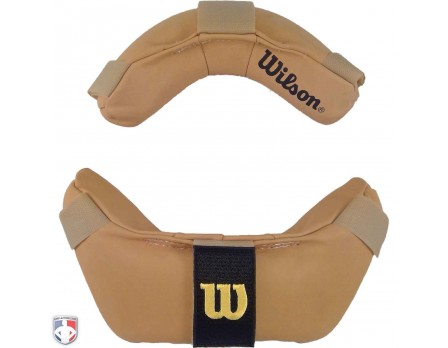 A3815-DEERML Wilson Doeskin Umpire Mask Replacement Pads - Tan Front View