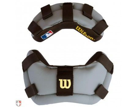 A3816-BG-Wilson Wrap Around Umpire Mask Replacement Pads - Black and Grey