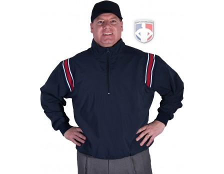 BB-JT Smitty Traditional Half-Zip Umpire Jacket - Navy and Red