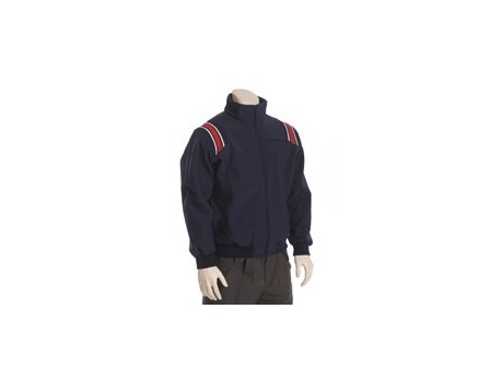 Smitty Major League Style Fleece Lined Umpire Jacket - Navy and Red