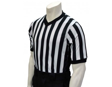 "Smitty ""Elite"" Performance Interlock V-Neck Referee Shirt with Side Panels"