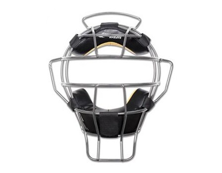 CM81-S Champro Silver Pro-Plus Aluminum Umpire Mask with Bio-Fresh Front View