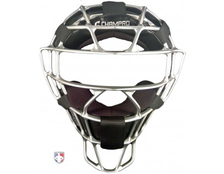 Champro Silver Rampage Magnesium Umpire Mask with Dri-Gear