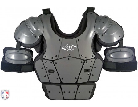 DCP-PRO Diamond Pro Umpire Chest Protector Front View with Extensions