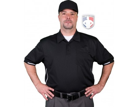 Smitty Vertical Stripe Umpire Shirt - Black