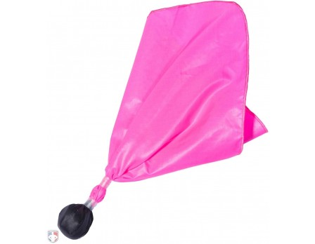 Premium Pink Ball Center Referee Penalty Flag - Black Ball