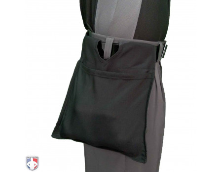 F3-DRYLO-BK Force3 DryLo Umpire Black Ball Bag Worn Side View