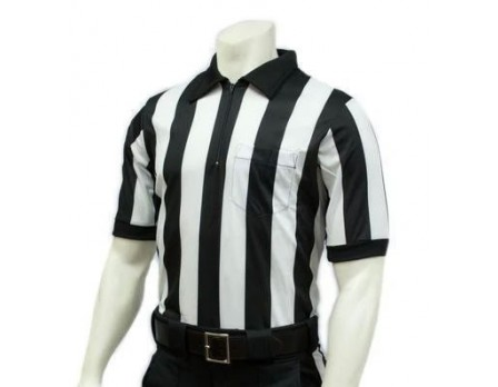 "FB117-Smitty 2"" Stripe ""Elite"" Short Sleeve Football Referee Shirt"
