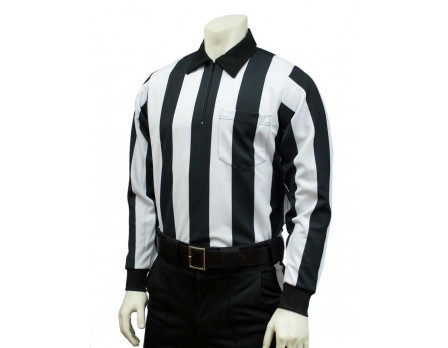 "FB138-Smitty 2 1/4"" Stripe Long Sleeve Football Referee Shirt"