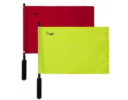 Champion Soccer Flags Set - Solid Yellow & Red