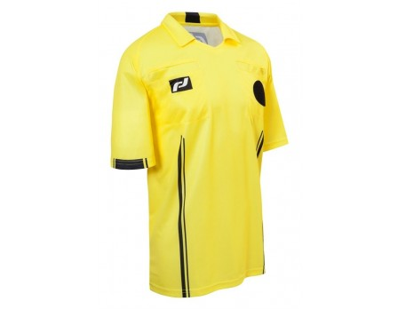 FD4025 Final Decision Europa II Short Sleeve Soccer Referee Shirt - Yellow
