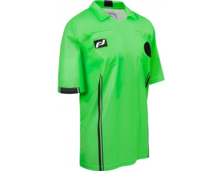 Final Decision Europa II Short Sleeve Soccer Referee Shirt - Green