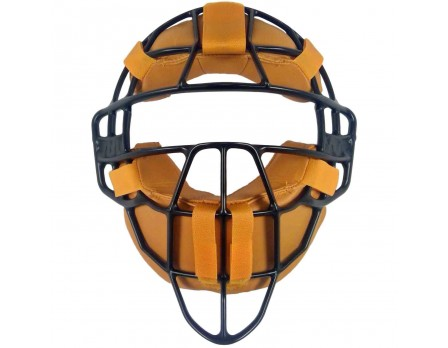 FM4000MAG-UMP All-Star Black Magnesium Umpire Mask with Vintage Tan Leather