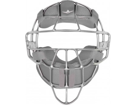 FM4000-UMP-SV/GY All-Star Silver Magnesium Umpire Mask with Grey LUC