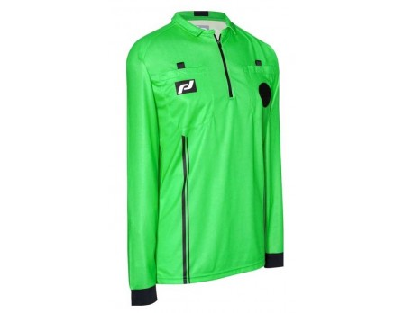 FD-4222 Final Decision Elite Long Sleeve Soccer Referee Shirt - Green