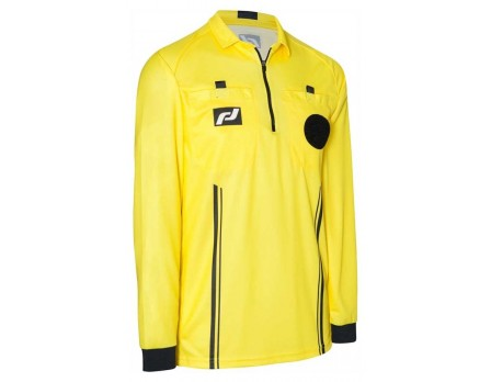 Final Decision Elite Long Sleeve Soccer Referee Shirt - Yellow
