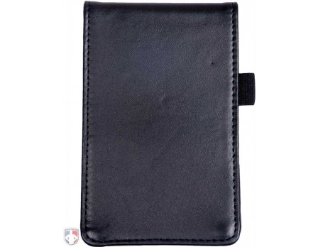 "HP-9185 LEATHER ""FLIP"" STYLE UMPIRE LINEUP CARD HOLDER / GAME CARD REFEREE WALLET"