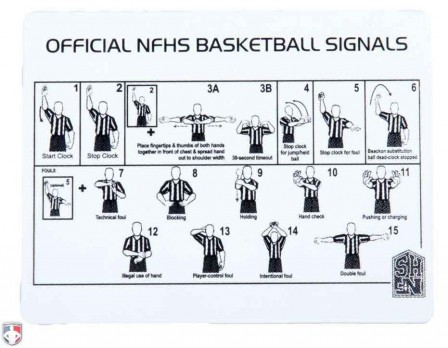 M140-B-NFHS Basketball Referee Signal Card
