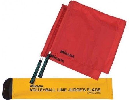MLF2 Mikasa Red Volleyball Linesman Flags