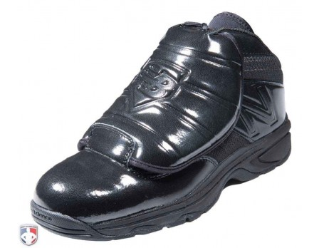 MU460XB3 New Balance V3 All-Black Mid-Cut Umpire Plate Shoes Outside Front Angled View