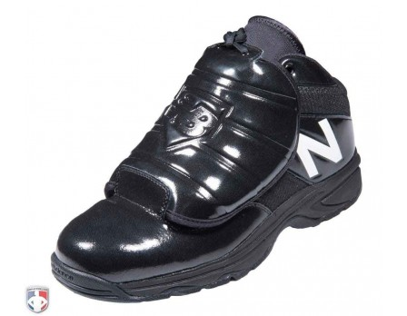 MU460XT3 New Balance V3 Black & White Mid-Cut Umpire Plate Shoes Outside Front Angled View