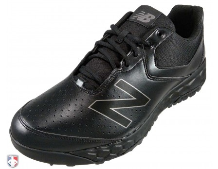 MU950AK3 New Balance V3 All-Black Low-Cut Umpire Base Shoes Outside Front Angled View