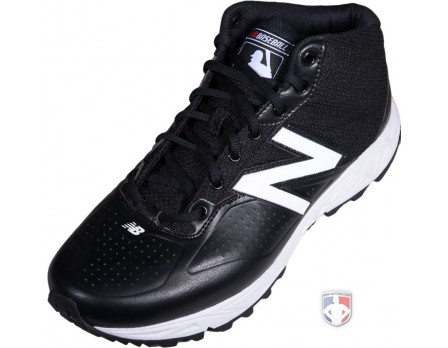 New Balance MLB Black & White Mid-Cut Umpire Base Shoes - MU950MW2