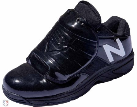 MUL460T3 New Balance V3 Black & White Low-Cut Umpire Plate Shoes Outside Front Angled View