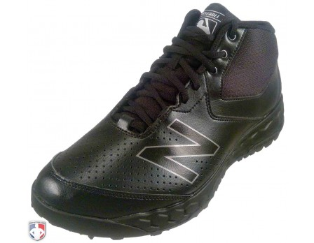 MUM950K3 New Balance V3 MLB All-Black Mid-Cut Umpire Base Shoes Outside Front Angled View