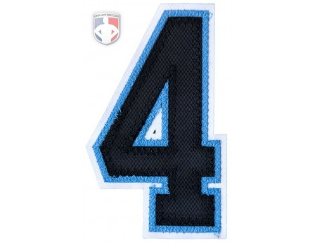 "4"" Umpire Sleeve Number - Black on Polo Blue on White"