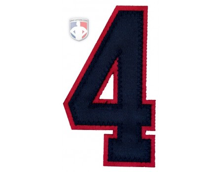 "4"" Navy on Red Umpire Sleeve Number"