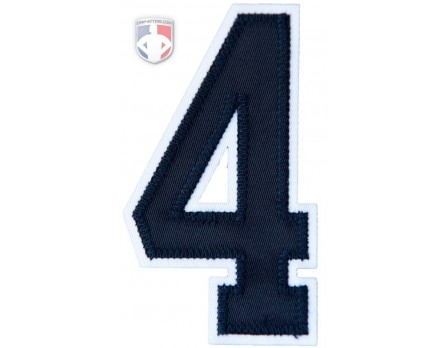 "4"" Navy on White Tackle Twill Number"