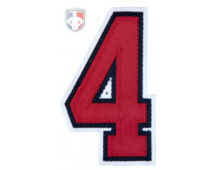 "4"" Red on Navy on White Umpire Sleeve Number"