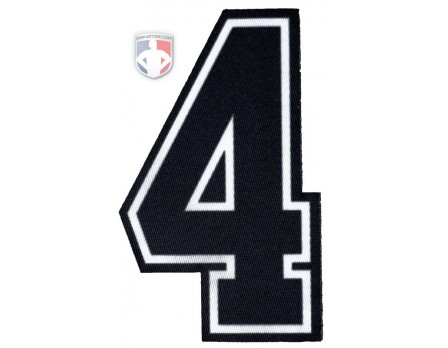 "4"" Dye Sublimated Umpire Sleeve Number - Black/White/Black"